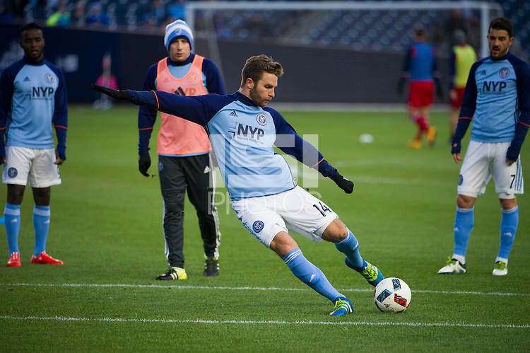 BRONX, NY - Sunday April 10, 2016: New York City FC takes on the Chicago Fire at home at Yankee Stadium in MLS regular season play.