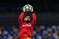 Carlos Miguel Coronel of FC Salzburg during the warm up<br /> Napoli 05-11-2019 Stadio San Paolo <br /> Football Champions League 2019/2020 Group E<br /> SSC Napoli - FC Salzburg<br /> Photo Cesare Purini / Insidefoto