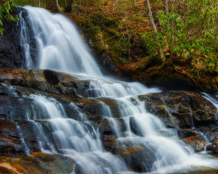 Laurel Falls, probably the most visited waterfall in the Great Smoky Mountains National Park.