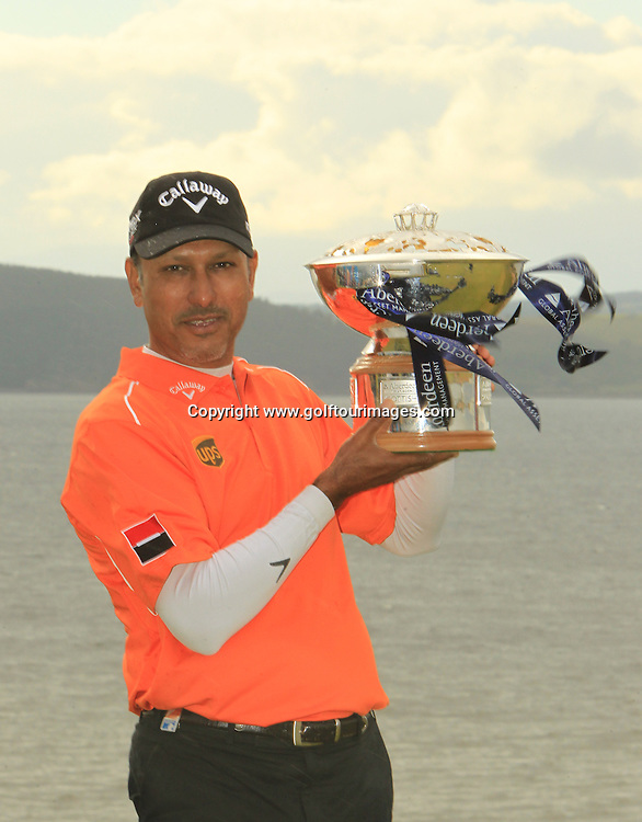 The 2012 Aberdeen Asset Management Scottish Open Champion is Jeev Milkha Singh from India with a score of 17 under par. The event was staged over the links at Castle Stuart, Inverness, Scotland from 12th to 15th July 2012:  Stuart Adams www.golftourimages.com:15th July 2012