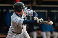 24 October 2010: Kenji Hagiwara of Rouen makes a bunt during Rouen 5-1 win over Savigny, during game 4 of the French championship finals, in Rouen, France.