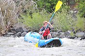 Bucking Rainbow Outfitters crashing Cable Rapid while floating the Upper Colorado River from Rancho to State Bridge, August 1, 2013, Morning Trip, AM, Bond, Colorado - WhiteWater-Pix | River Adventure Photography - by MADOGRAPHER Doug Mayhew