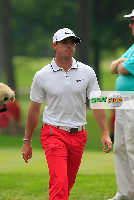 Rory MCILROY (NIR) walks to the 9th tee during Saturday's Round 3 of the WGC Bridgestone Invitational, held at the Firestone Country Club, Akron, Ohio.: Picture Eoin Clarke, www.golffile.ie: 2nd August 2014