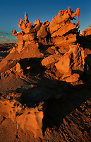 746000024 strange sandstone formations stand watch over the landscape in fantasy canyon a blm property in the middle of a working oil field in northeastern utah united states