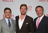 "9 August 2018-  Westwood, California - Matthew Rhodes, Jonathan Gray, Judd Payne. Premiere Of STX Films' ""Mile 22"" held at The Regency Village Theatre. Photo Credit: Faye Sadou/AdMedia"