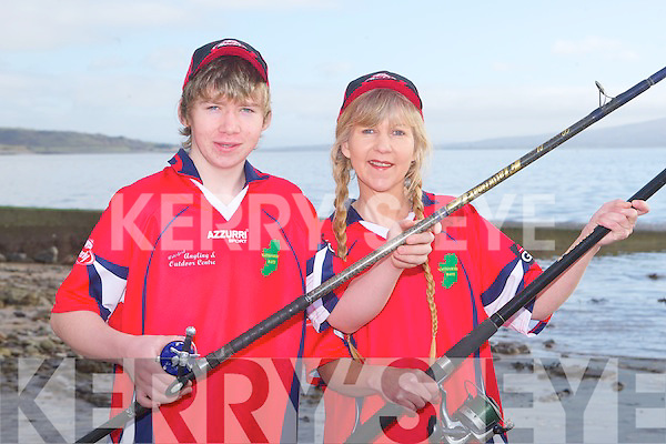 IRISH TEAM: Mother and son Deirdre and Luke O'Sullivan of Tralee Bay Sea Angling Club who will represent Ireland at the 2012 Home Nations Championship in Dover, England in July...