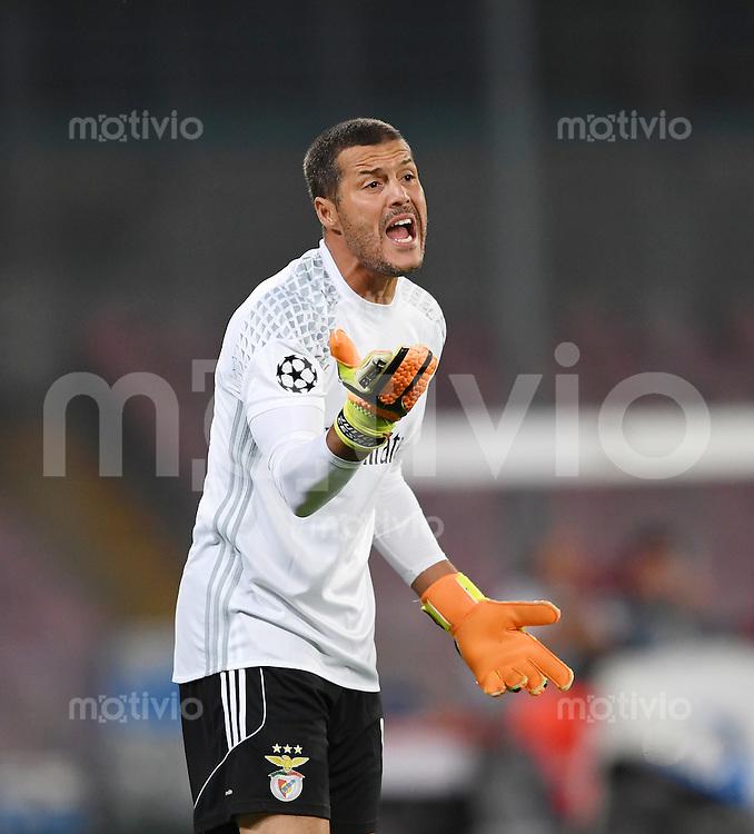 FUSSBALL CHAMPIONS LEAGUE SAISON 2016/2017 GRUPPENPHASE SSC Neapel - Benfica Lissabon     28.09.2016 Torwart Julio Cesar (Benfica Lissabon)