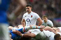 Ben Youngs of England looks on. Guinness Six Nations match between England and Italy on March 9, 2019 at Twickenham Stadium in London, England. Photo by: Patrick Khachfe / Onside Images