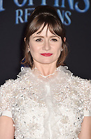 LOS ANGELES, CA - NOVEMBER 29: Emily Mortimer attends the Premiere Of Disney's 'Mary Poppins Returns' at El Capitan Theatre on November 29, 2018 in Los Angeles, California.<br /> CAP/ROT/TM<br /> &copy;TM/ROT/Capital Pictures