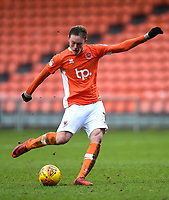 Blackpool's Sean Longstaff shoots at goal<br /> <br /> Photographer Richard Martin-Roberts/CameraSport<br /> <br /> The EFL Sky Bet League One - Blackpool v Walsall - Saturday 10th February 2018 - Bloomfield Road - Blackpool<br /> <br /> World Copyright &not;&copy; 2018 CameraSport. All rights reserved. 43 Linden Ave. Countesthorpe. Leicester. England. LE8 5PG - Tel: +44 (0) 116 277 4147 - admin@camerasport.com - www.camerasport.com