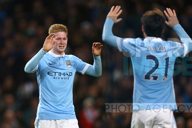 Kevin De Bruyne of Manchester City celebrates scoring his sides fourth goal - Manchester City vs Sunderland - Barclays Premier League - Etihad Stadium - Manchester - 26/12/2015 Pic Philip Oldham/SportImage