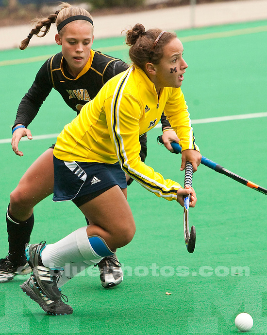 The University of Michigan women's field hockey team beat No. 12 Iowa 2-0 at Ocker Field in Ann Arbor, Mich., on October 1, 2011.