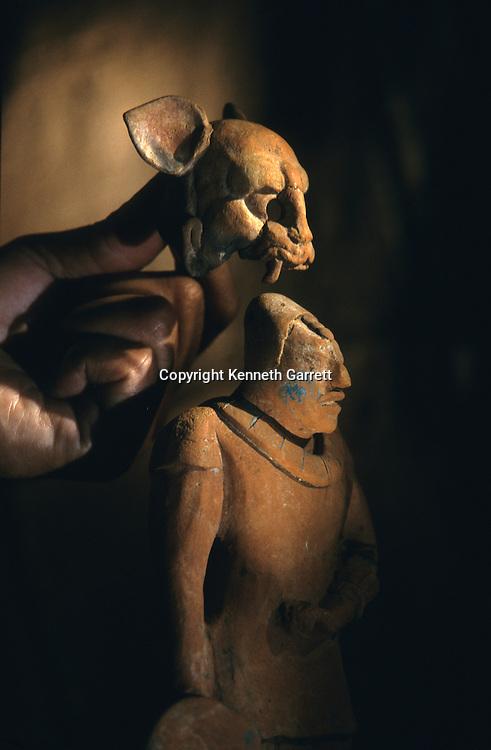 Artifact, Cancuen, Guatemala, Arthur Demarest, Tomas Barrientos, Maya, palace, Classic Period, Peten, Trade Center, Warrior, Figurine.