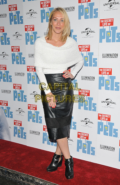 Laura Hamilton at the &quot;The Secret Life of Pets&quot; UK 'Petmiere', Prince Charles cinema, Leicester Place, London, England, UK, on Saturday 12 November 2016. <br /> CAP/CAN<br /> &copy;CAN/Capital Pictures