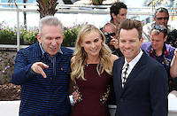 CPE/Jury members actors Ewan McGregor, Diane Kruger and fashion designer Jean-Paul Gautier pose at the Feature Film Jury Photocall during the 65th Annual Cannes Film Festival at Palais des Festivals on May 16, 2012 in Cannes, France.  © Crystal/News Pictures/MediaPunch Inc...