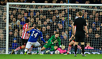 Lincoln City's Josh Vickers saves from Everton's Cenk Tosun<br /> <br /> Photographer Chris Vaughan/CameraSport<br /> <br /> Emirates FA Cup Third Round - Everton v Lincoln City - Saturday 5th January 2019 - Goodison Park - Liverpool<br />  <br /> World Copyright &copy; 2019 CameraSport. All rights reserved. 43 Linden Ave. Countesthorpe. Leicester. England. LE8 5PG - Tel: +44 (0) 116 277 4147 - admin@camerasport.com - www.camerasport.com