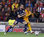 05.04.2016 Barcelona. Uefa Champions League Quarter-finals 1st leg. Game between FC Barcelona agaisnt Atletico de Madrid at Camp Nou. Picture show Neymar and Juanfran