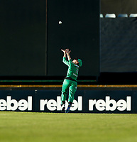 2nd November 2019; Western Australia Cricket Association Ground, Perth, Western Australia, Australia; Womens Big Bash League Cricket, Perth Scorchers versus Melbourne Stars; Elyse Villani of the Melbourne Stars sets herself for a catch in the outfield - Editorial Use