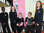Toochi Oguama, Katie Phelan, Aoife Walker, Sam Daly and Shauna Blake from St Patrick's Green School committee pictured at the Stamullen Green Energy day at St Patrick's GAA club. Photo: Colin Bell/pressphotos.ie