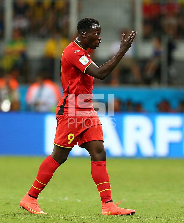 Romelu Lukaku of Belgium gestures