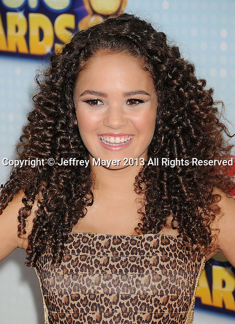 LOS ANGELES, CA- APRIL 27: Actress Madison Pettis arrives at the 2013 Radio Disney Music Awards at Nokia Theatre L.A. Live on April 27, 2013 in Los Angeles, California.