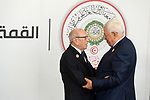 Palestinian President Mahmoud Abbas meets with Tunisia's President Beji Caid Essebsi during the 30th Arab League summit in the Tunisian capital Tunis on March 31, 2019. Photo by Thaer Ganaim
