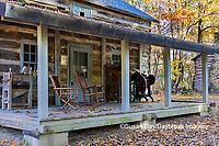63895-16514 Cabin at Log Cabin Village in fall Kinmundy IL