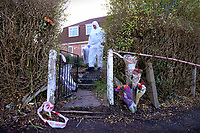 "Pictured: Police and forensics teams collecting evidence at at the house where the body of Terri-Anne Jones was discovered in Cimla, Neath, Wales.<br /> Re: John Paul Lewis who stabbed his girlfriend Terrie-Ann Jones 26 times and then went to the pub has been jailed for life for her murder.<br /> 55 year old Lewis, left the mother of two, 33 year old Terrie-Ann Jones, in a pool of blood after the attack in her home in Cimla, south Wales, on 5 January 2018.<br /> He then took money from her purse, changed his clothes and went to the pub, Swansea Crown Court was told.<br /> Lewis, who initially claimed he was acting in self-defence, must serve a minimum of 19 years.<br /> He had pleaded not guilty to murder but was convicted by a jury.<br /> Ms Jones's family said in a statement after the verdict : ""Everyone that knew her loved her and we cannot tell you how much we are missing her.<br /> ""Her passing has forever changed the lives of her daughter and little boy, who at nine years old doesn't understand why his mummy isn't here to play with him any more."""