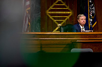 United States Senator Lindsey Graham (Republican of South  Carolina), Chairman, US Senate Judiciary Committee, appears before a US Senate Judiciary Committee hearing on Capitol Hill in Washington, Tuesday, June 9, 2020, to examine COVID-19 fraud, focusing on law enforcement's response to those exploiting the pandemic. <br /> Credit: Andrew Harnik / Pool via CNP/AdMedia