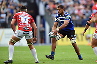 Taulupe Faletau of Bath Rugby in possession. Gallagher Premiership match, between Bath Rugby and Gloucester Rugby on September 8, 2018 at the Recreation Ground in Bath, England. Photo by: Patrick Khachfe / Onside Images