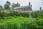 The garden at the Black House at the Woodlawn Museum & Gardens in Ellsworth, Maine, USA