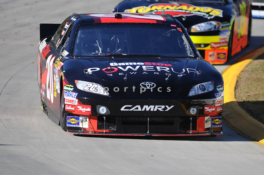JOEY LAGANO, during practice laps in preparation for the Tums Fast Relief 500 in Martinsville, VA..