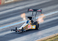Jul 22, 2017; Morrison, CO, USA; NHRA top fuel driver Leah Pritchett during qualifying for the Mile High Nationals at Bandimere Speedway. Mandatory Credit: Mark J. Rebilas-USA TODAY Sports