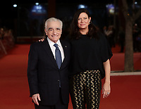 Il regista statunitense Martin Scorsese posa con la produttrice statunitense Emma Tillinger Koskoff sul red carpet per la presentazione del suo film 'Irishman' alla 14^ Festa del Cinema di Roma all'Aufditorium Parco della Musica di Roma, 21 ottobre 2019.<br /> US director Martin Scorsese poses with US producer Emma Tillinger Koskoff on the red carpet to present his movie 'Irishman' during the 14^ Rome Film Fest at Rome's Auditorium, on 21 October 2019.<br /> UPDATE IMAGES PRESS/Isabella Bonotto