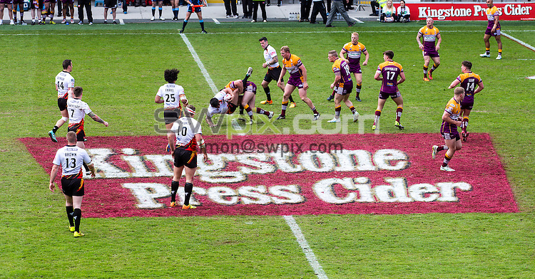 Picture by Alex Whitehead/SWpix.com - 24/05/2015 - Rugby League - Kingstone Press Championship Summer Bash - Dewsbury Rams v Batley Bulldogs - Bloomfield Road, Blackpool, England -