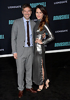 """LOS ANGELES, USA. December 11, 2019: Mark Duplass & Katie Aselton  at the premiere of """"Bombshell"""" at the Regency Village Theatre.<br /> Picture: Paul Smith/Featureflash"""