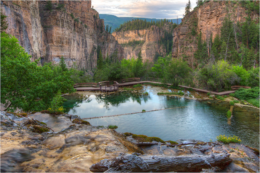 Many people have seen images of Hanging Lake. However, not as common is this view from above the falls looking down into the emerald waters of the lake. I arrived well before sunrise and had this beautiful location all to myself for nearly an hour before heading back down. Looking back at canyone that Dead Horse Creek flows down is an awe inspiring sight.