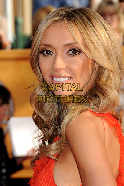 GIULIANA DePANDI RANCIC.16th Annual Screen Actors Guild Awards - Arrivals held at The Shrine Auditorium, Los Angeles, California, USA..January 23rd, 2009.SAG SAGs headshot portrait red orange side looking over shoulder .CAP/ADM/BP.©Byron Purvis/Admedia/Capital Pictures