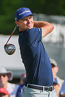 Justin Rose (GBR) watches his tee shot on 3 during round 3 of the 2019 Charles Schwab Challenge, Colonial Country Club, Ft. Worth, Texas,  USA. 5/25/2019.<br /> Picture: Golffile | Ken Murray<br /> <br /> All photo usage must carry mandatory copyright credit (© Golffile | Ken Murray)
