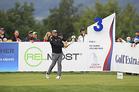 Lee Westwood (ENG) on the 3rd tee during Round 4 of the D+D Real Czech Masters at the Albatross Golf Resort, Prague, Czech Rep. 03/09/2017<br /> Picture: Golffile | Thos Caffrey<br /> <br /> <br /> All photo usage must carry mandatory copyright credit     (&copy; Golffile | Thos Caffrey)
