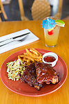 The BBQ Ribs at the Hali'imaile General Store Restaurant on the island of Maui, Hawaii