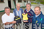 NEW MACHINE: Members of the Ballydonoghue GAA Club which has just acquired a new defibrillator machine which will be made available to the whole community, l-r: Robert Bunyan (Co Board Delegate), Pat O'Connor (Treasurer), Ger Moran (Secretary), Donal Enright (Field Committee).