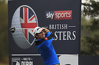 Ricardo Gouveia (POR) on the 3rd tee during Round 4 of the Sky Sports British Masters at Walton Heath Golf Club in Tadworth, Surrey, England on Sunday 14th Oct 2018.<br /> Picture:  Thos Caffrey | Golffile<br /> <br /> All photo usage must carry mandatory copyright credit (&copy; Golffile | Thos Caffrey)