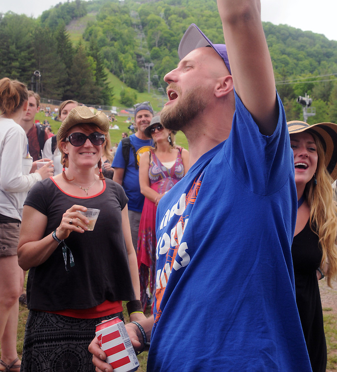 Members of the audience enjoying themselves during a performance of, The Mother Hips, at Mountain Jam Music Festival of 2015, in Hunter, NY on Friday June 5, 2015. Photo by Jim Peppler. Copyright Jim Peppler 2015.