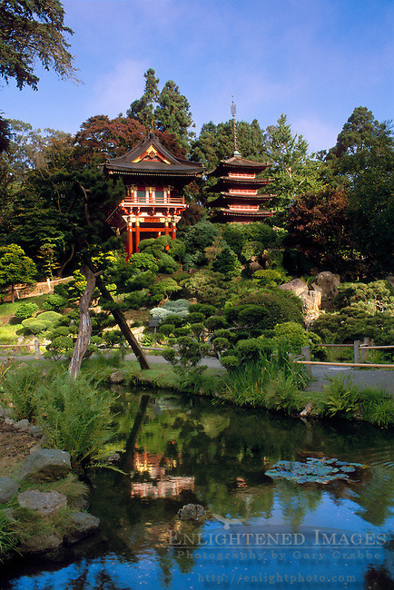 Pagoda in the Japanese Tea Garden, Golden Gate Park, San Francisco, California