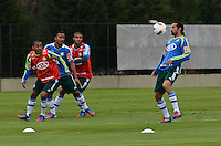 SAO PAULO, 31 DE JULHO DE 2012 - TREINO PALMEIRAS - O jogador Marcos  durante treino do Palmeiras na tarde desta terca feira, no ct do clube, na barra funda, regiao oeste da capital. FOTO: ALEXANDRE MOREIRA - BRAZIL PHOTO PRESS