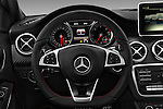 Car pictures of steering wheel view of a 2016 Mercedes Benz A-Class Fascination 5 Door Hatchback Steering Wheel