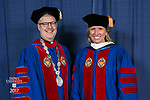 HDR/VIP Portraits - 2017 Commencement - College of Communication and College of Computing and Digital Media: The Rev. Dennis H. Holtschneider, C.M., and Marty Wilke, broadcast television executive and DePaul alumna. (DePaul University/Jamie Moncrief)