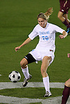 07 November 2008: North Carolina's Ali Hawkins. The University of North Carolina Tarheels defeated Boston College Eagles 2-0  at WakeMed Stadium at WakeMed Soccer Park in Cary, NC in a women's ACC tournament semifinal game.