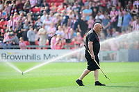 Lincoln City's head groundsman Jim Davison<br /> <br /> Photographer Chris Vaughan/CameraSport<br /> <br /> The EFL Sky Bet League Two - Lincoln City v Tranmere Rovers - Monday 22nd April 2019 - Sincil Bank - Lincoln<br /> <br /> World Copyright © 2019 CameraSport. All rights reserved. 43 Linden Ave. Countesthorpe. Leicester. England. LE8 5PG - Tel: +44 (0) 116 277 4147 - admin@camerasport.com - www.camerasport.com